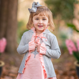 Evie's Closet Tiny Dancer Ruffled Hooded Jacket