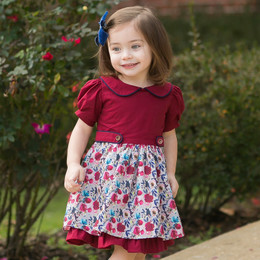 Evie's Closet Vintage Roses Layered Dress