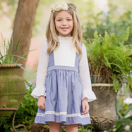 Evie's Closet Swiss Dots & Chambray Dress
