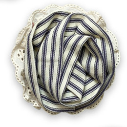 Little Prim   Honeycomb Rose Clip - Ticking Stripe