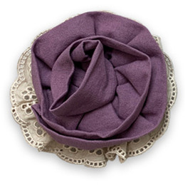Little Prim   Honeycomb Rose Clip - Plum