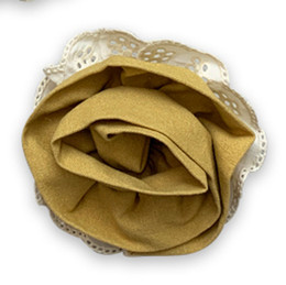 Little Prim Honeycomb Rose Clip - Mustard