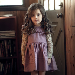 Little Prim   Honeycomb Ivy Jumper - Plum (**lace top sold separately**)