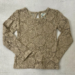 Little Prim   Honeycomb Lilly Top - Beige