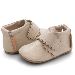 Livie & Luca  Fleur Baby Shoes - Gold Shimmer (Fall 2019)