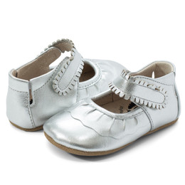 Livie & Luca Ruche Baby Shoes - Silver Metallic (Fall 2019)