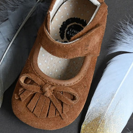 Livie & Luca Willow Baby Shoes - Camel (Fall 2019)