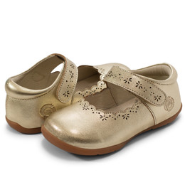 Livie & Luca First Walker Lily Shoes - Gold Metallic (Fall 2019)