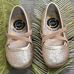 Livie & Luca  Aurora Shoes - Gold Sparkle (Fall 2019)