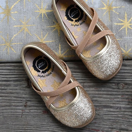 Livie & Luca  Aurora Shoes - Gold Sparkle (Fall 2019)