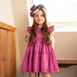 Mustard Pie Indigo Orchard  2pc Alice Dress & Hair Clip - Plum (*Top Sold Separately*)