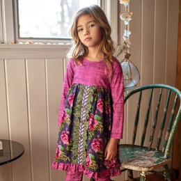 Mustard Pie  Indigo Orchard 2pc Picnic Dress & Hair Clip