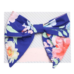 Be Girl Clothing Fall Classic Bow - Blue Floral