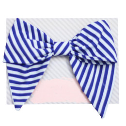 Be Girl Clothing Fall Classic Bow - Blue Stripe