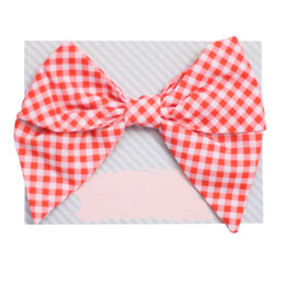 Be Girl Clothing Fall Classic Bow - Rust Gingham