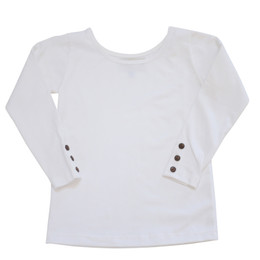 Be Girl Clothing Fall Button Tab Top - French Vanilla