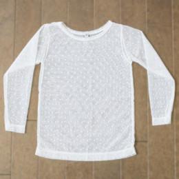 Be Girl Clothing Fall Dot Sheer Top - Ivory