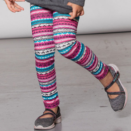 Deux Par Deux  Tales From The Wood Legging - Funny Stripe