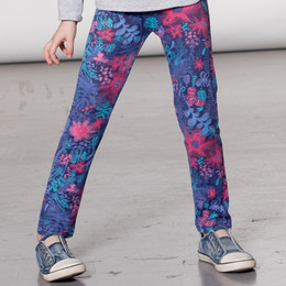 Deux Par Deux  Winter Bouquet Print Legging - Flowers