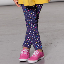 Deux Par Deux  Unicorns & Rainbows Print Legging - Dots