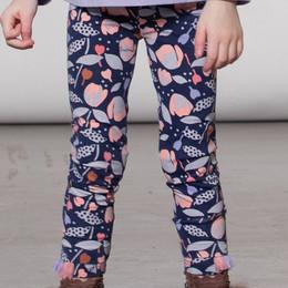 Deux Par Deux  A Lalala Llama Jersey Print Legging - Floral
