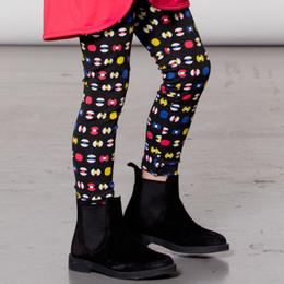 Deux Par Deux  Pom Pom Girls Print Legging - Geo