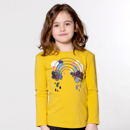Deux Par Deux  Unicorns & Rainbows Knit Top - Ceylon Yellow