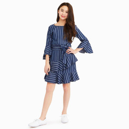Habitual Girl  Serena Stripe Tencel Dress - Stripe