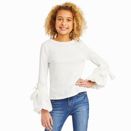 Habitual Girl  Peyton Jersey Knit / Woven Top - White