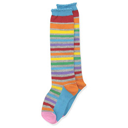 Jefferies Socks Rainbow Knee High Socks - Multi Stripe