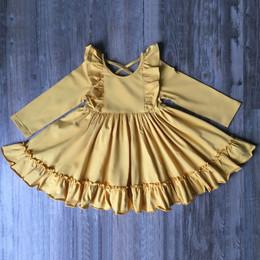 Serendipity Clothing Bella Ruffle Dress - Mustard