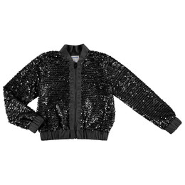 Mayoral  Sequin Bomber Jacket - Black