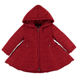 Mayoral  Hooded Puffer Coat - Red