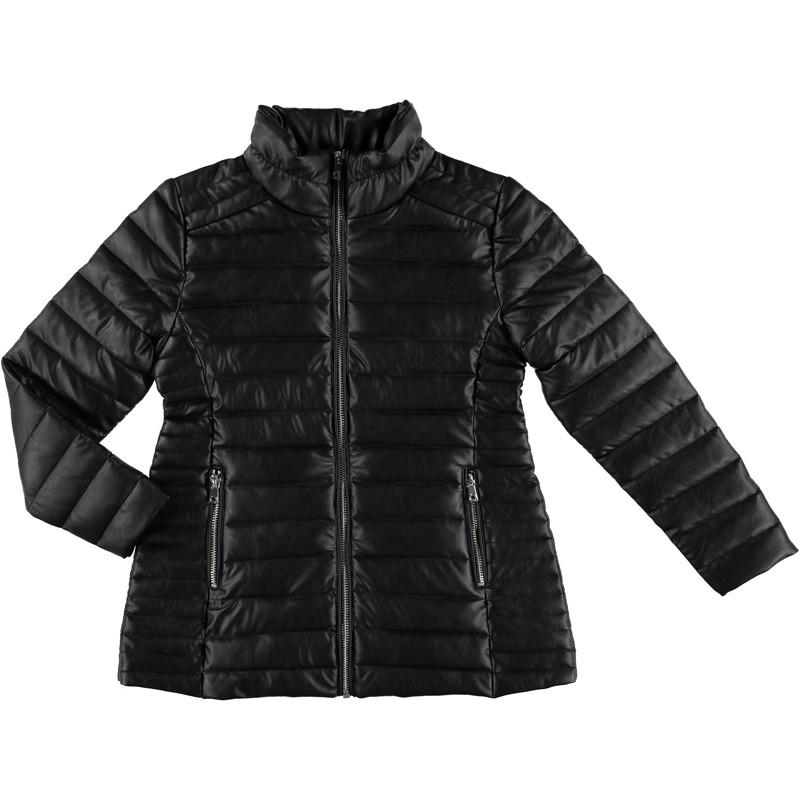 b8feea806 Mayoral Faux Leather Ribbed Jacket - Black