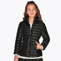 Mayoral  Faux Leather Ribbed Jacket - Black
