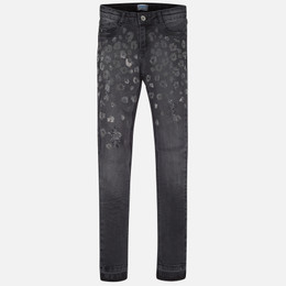 Mayoral  Beaded Skinny Jeans - Gray