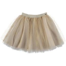 Mayoral  Tulle Glitter Skirt - Beige