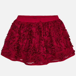 Mayoral Flower Petal Skirt - Red