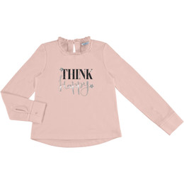 Mayoral  Think Happy Tee - Nude Pink