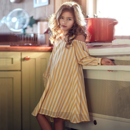 Jak & Peppar Boogie Nights Cecily Dress - Sunshine