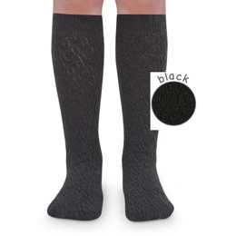 Jefferies Socks Pointelle Knee High Socks - Black - 2 pairs!