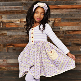 Swoon Baby by Serendipity Lavender Meadow Flair Pocket Dress