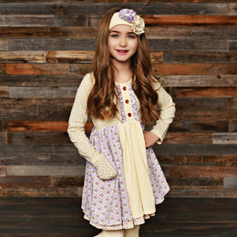Swoon Baby by Serendipity Lavender Meadow Prim Pocket Dress