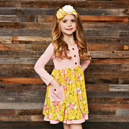 Swoon Baby by Serendipity Little Honey Posie Tie Pocket Dress