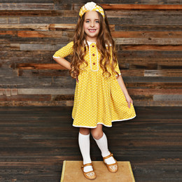 Swoon Baby by Serendipity Little Honey Petal Swing Frock
