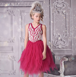 Ooh La La Couture  Dewdrop Dress - Fuschia