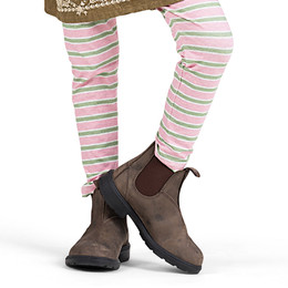Paper Wings  Classic Legging - Pink/Khaki Stripe