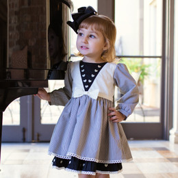 Evie's Closet Stripes & Hearts Dress
