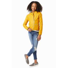 Habitual Girl  Luna Faux Leather Biker Jacket - Gold