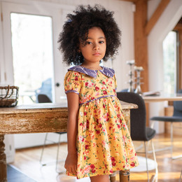 Mustard Pie  Butterscotch 2pc Nina Dress & Hair Clip - Butterscotch